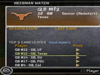 Progress tracking in 'NCAA Football 10'