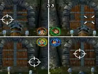 4-player split-screen multiplayer action in Medieval Games