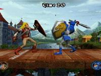 Dueling on a platform in Medieval Games