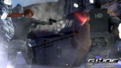 Taking on an armored vehicle with light weapons in 'G.I. Joe: The Rise of Cobra'