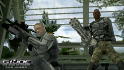 Duke and Gung Ho in co-op action against Cobra in 'G.I. Joe: The Rise of Cobra'