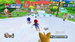 Dream Event Ski Cross in Mario & Sonic at the Olympic Winter Games for Wii