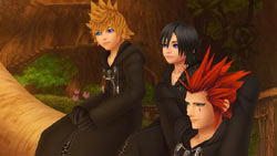 Main characters in 'Kingdom Hearts 358/2 Days'
