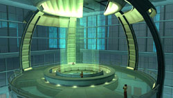 Futuristic indoor environment from 'City of Heroes Architect Edition'