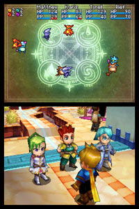 Adept party combat characters from Golden Sun: Dark Dawn