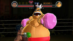 Battling King Hippo in 'Punch-Out!!'