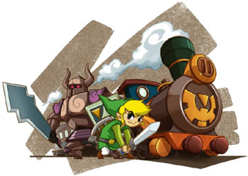 The Phantom, Link and Link's locomotive from The Legend of Zelda: Spirit Tracks