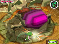 Link taking on a boss in The Legend of Zelda: Spirit Tracks