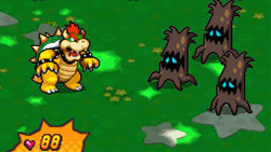 Mega Mushooms power-up in action in New Super Mario Bros. for DS