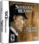 'Sherlock Holmes: The Mystery of the Mummy' game logo