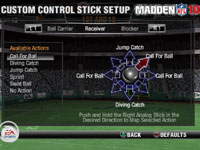 Controller customization in 'Madden NFL 10' for PS2