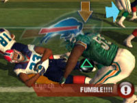 Fight for the fumble mini-game in 'Madden NFL 10' for PS2