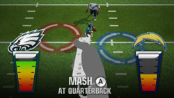 Spotlight Moment mini-game in 'Madden NFL 10'