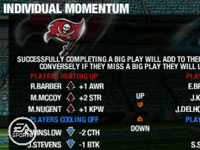 Using player hot streaks and momentum 'Madden NFL 10' for PSP