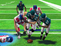 Fight for the fumble mini-game in 'Madden NFL 10' for PSP