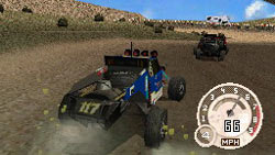A buggy style off road race example from 'DiRT 2' for DS