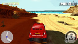 A desert off-road race example from 'DiRT 2' for PSP