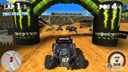 Sprint car racing example from 'DiRT 2' for PSP