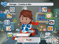 Creating your own Sim in 'MySims Racing' for Wii