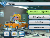 Car customization and upgrading in 'MySims Racing' for Wii