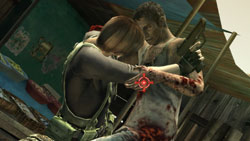 Co-op gameplay with Claire Redfield in Resident Evil: The Darkside Chronicles