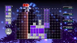 Puzzle gameplay in 'Lumines Live!'