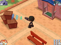 Agent collecting essences in 'MySims Agents' for DS