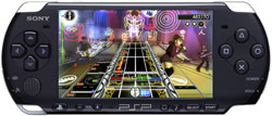 Rock Band Unplugged playing on a PSP-3000
