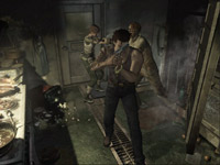 Both playable characters fighting together in Resident Evil Archive: Resident Evil Zero