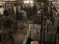 Battling zombies alone in a train compartment in Resident Evil Archive: Resident Evil Zero