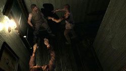 Cornered by zombies in 'Resident Evil Archives: Resident Evil'