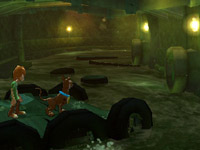 Shaggy and Scoob in co-op gameplay in 'Scooby-Doo! First Frights' for Wii