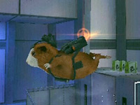 Using a jetpack in 'G-Force' the video game