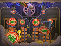 Layered targeting system in 'Toy Story Mania!'