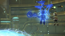 Clank using his new replication abilities during platforming in Ratchet & Clank Future: A Crack in Time