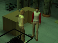 The Boys in an empty store in 'The Hardy Boys: The Hidden Theft' for Wii