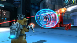Battling robots in 'G-Force' the video game