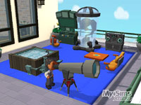 A customized headquarters with a telescope in 'MySims Agents'