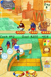 Selling cakes in ancient Eygpt in Cake Mania 3