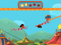 The flying trapeze in Ringling Bros. and Barnum & Bailey the game for Wii