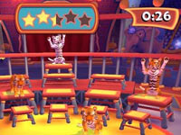 Tiger training in Ringling Bros. and Barnum & Bailey the game for Wii
