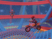 A daredevil motorcycle riding act in Ringling Bros. and Barnum & Bailey the game for Wii