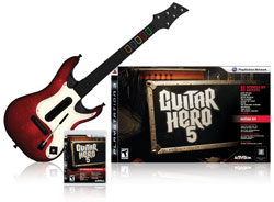 Game bundled with improved guitar in 'Guitar Hero 5'