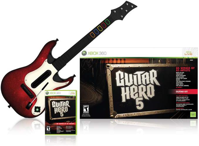 xbox 360 guitar hero 5 guitar bundle video games. Black Bedroom Furniture Sets. Home Design Ideas