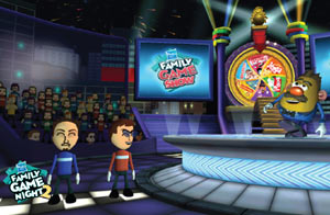 In-game Mii use in Family Game Show Mode in Hasbro Family Game Night 2