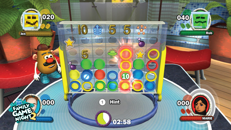 Connect 4x4 Multiplayer Gameplay Screen From Hasbro Family Game Night 2
