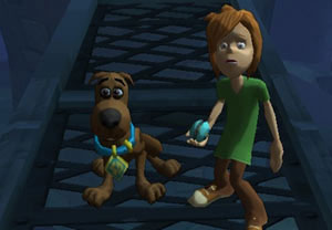 A young Scooby and Shaggy combo in 'Scooby-Doo! First Frights' for DS