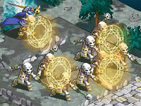 A skeleton formation in 'Hero's Saga: Laevatein Tactics'
