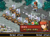 Controling a squad in 'Hero's Saga: Laevatein Tactics'