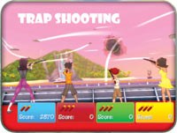 The Wii Zapper compatible Trap shooting game from 'Cruise Ship Vacation Games'